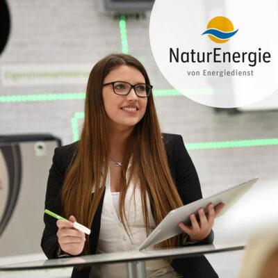 Sarah Keser, Mitarbeiterin der Energiedienst Holding AG